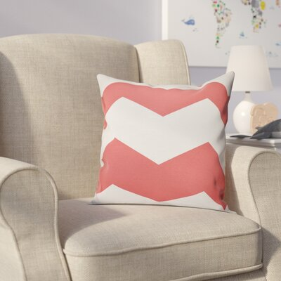 Milo Throw Pillow Size: 18 H x 18 W, Color: Coral