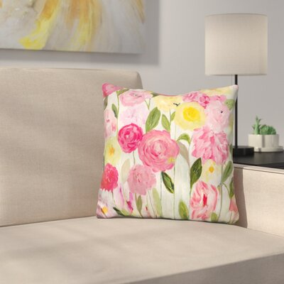 Topalian Margaret's Flowers Throw Pillow