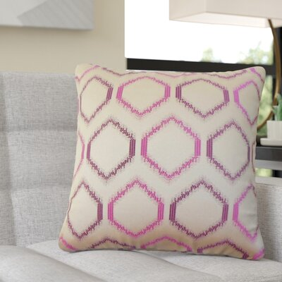 Pilkington Geometric Throw Pillow Color: Orchid