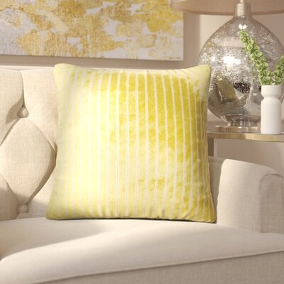 Brecken Striped Throw Pillow Color: Peridot
