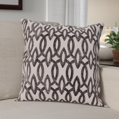 Hambly 100% Cotton Pillow Cover Color: Black, Set of: 1