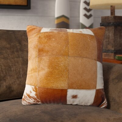 Crescent City Leather Throw Pillow Color: Brown