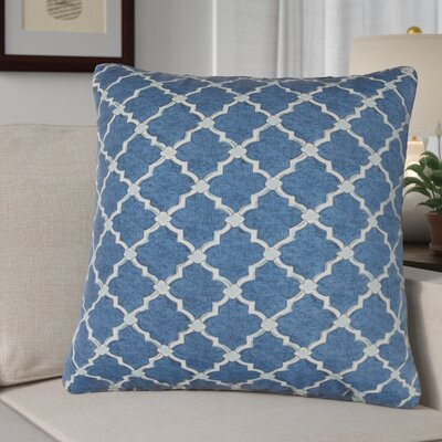 Burnley Indoor/Outdoor Throw Pillow Color: Blue/White
