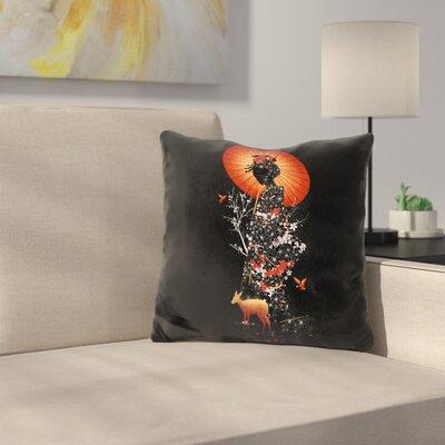 Geisha Nature Throw Pillow