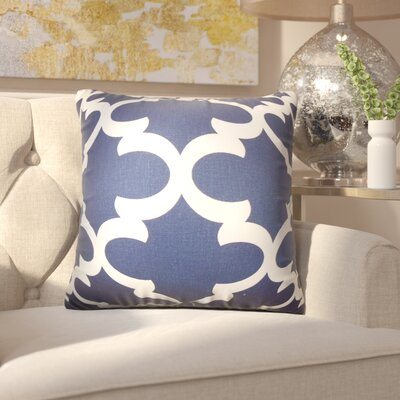 Chitwood Geometric Cotton Throw Pillow Color: Navy