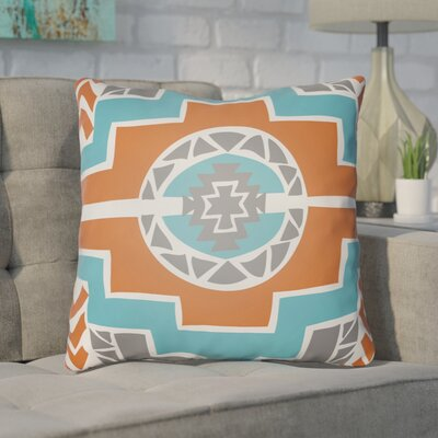 Adamson Indoor Throw Pillow Size: 20 H x 20 W x 4 D, Color: Turquoise/Orange