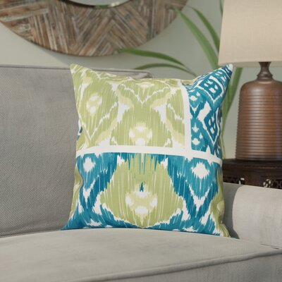 Meetinghouse Free Spirit Geometric Outdoor Throw Pillow Size: 18 H x 18 W, Color: Teal