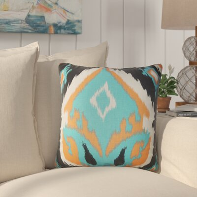 Merganser Ikat Cotton Throw Pillow Color: Orange