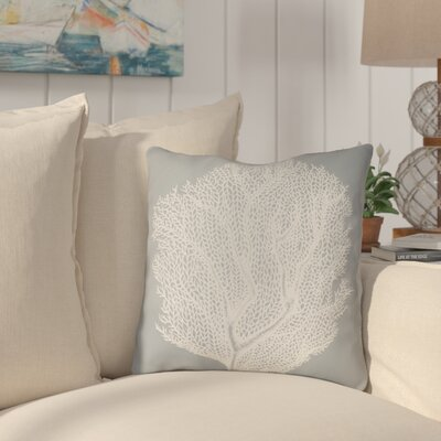 Brookline Coastal II Indoor/Outdoor Throw Pillow Size: 18 H x 18 W x 4 D, Color: Slate
