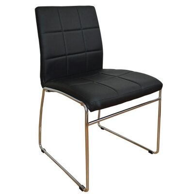 Sather Square Stitched Upholstered Dining Chair Upholstery Color: Black