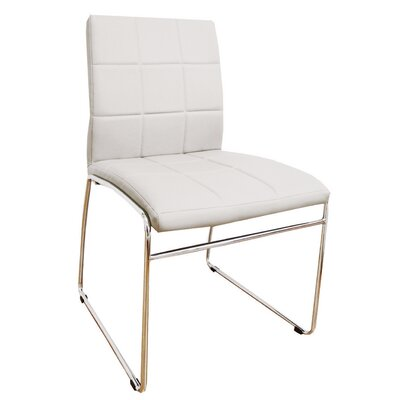 Sather Square Stitched Upholstered Dining Chair Upholstery Color: White