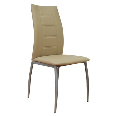 Satter Upholstered Dining Chair (Set of 2) Color: Cream
