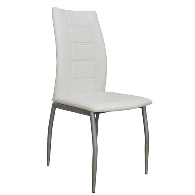 Satter Upholstered Dining Chair (Set of 2) Color: White