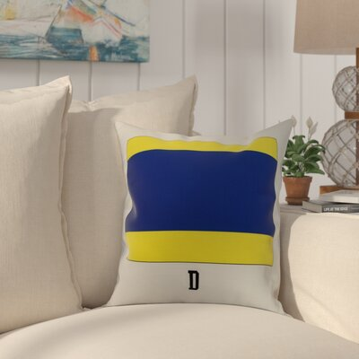 Harriet D Letter Throw Pillow Size: 18 x 18