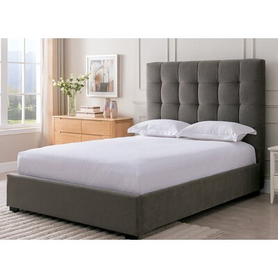 Bedsworth Upholstered Panel Bed Color: Pewter, Size: King