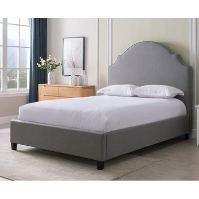 Eldorado Fabric Upholstered Panel Bed Finish: Gray, Size: Queen