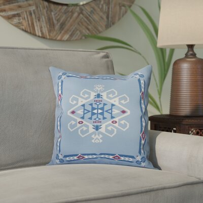 Meetinghouse Jodhpur Border 3 Geometric Print Throw Pillow Size: 18 H x 18 W, Color: Blue