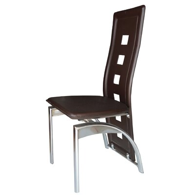 Savell Upholstered Dining Chair Upholstery Color: Dark Brown