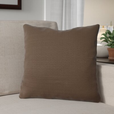 Forestburgh Solid Throw Pillow Color: Chocolate