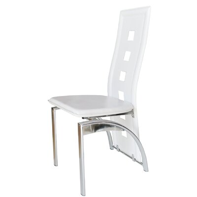 Savell Upholstered Dining Chair Upholstery Color: White