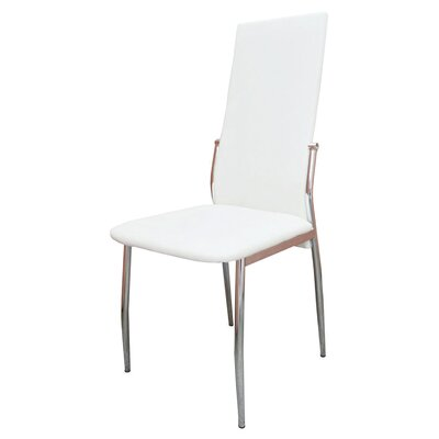 Saver Upholstered Dining Chair Upholstery Color: White