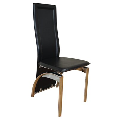 Savino Upholstered Dining Chair Upholstery Color: Black