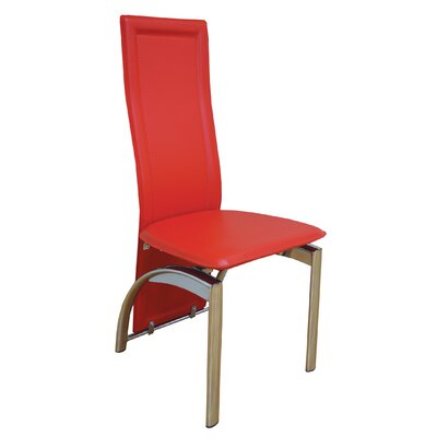 Savino Upholstered Dining Chair Upholstery Color: Red