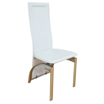 Savino Upholstered Dining Chair Upholstery Color: White