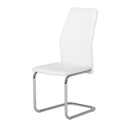 Sawicki Stitched Back Upholstered Dining Chair Upholstery Color: White