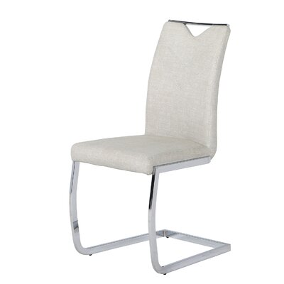 Sawin Upholstered Dining Chair Upholstery Color: Gray