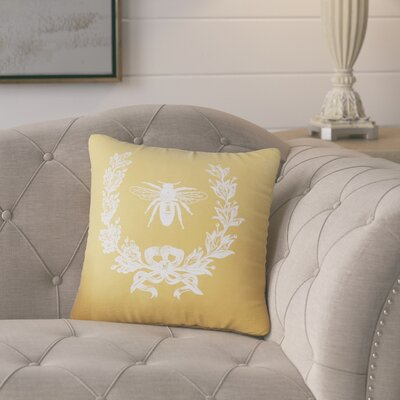 Citronelle  Throw Pillow Color: Golden Rod