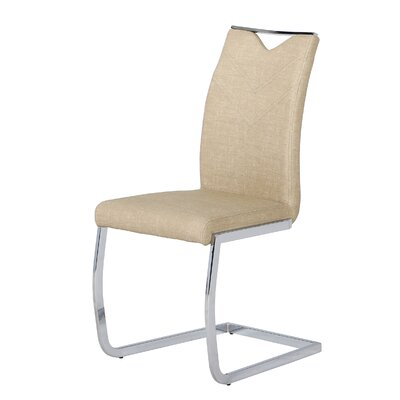 Sawin Upholstered Dining Chair Upholstery Color: Tan