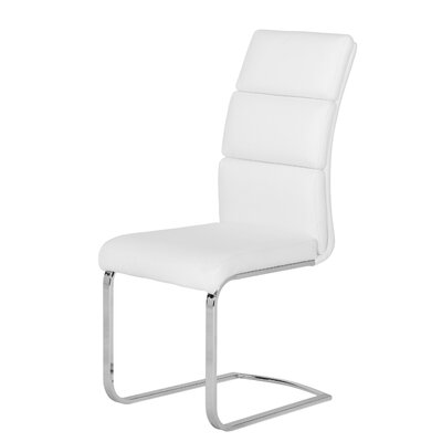 Saylor Upholstered Dining Chair Upholstery Color: White