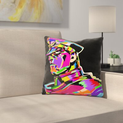 M Bison Throw Pillow
