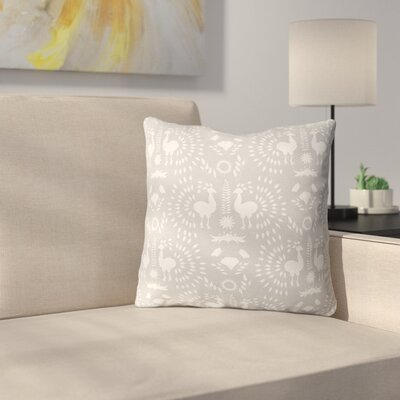Morel Outdoor Throw Pillow Size: 16 x 16, Color: Grey