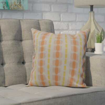 Leal Watercolor Stripe Throw Pillow Size: 16 H x 16 W, Color: Yellow
