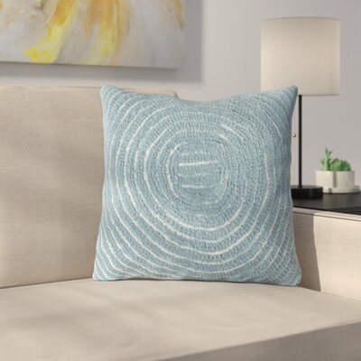 Mack Geometric Circle Throw Pillow Color: Blue