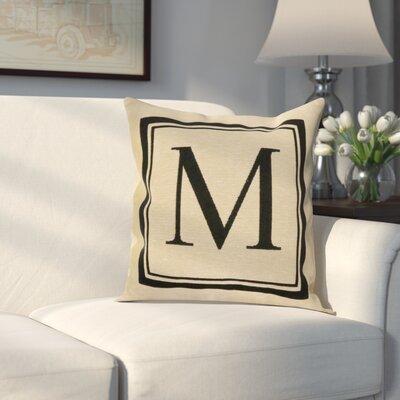 Beaver Creek Monogram Throw Pillow Letter: M