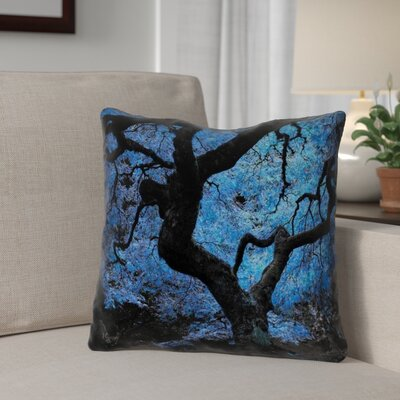 Ghost Train Japanese Maple Tree Outdoor Throw Pillow Size: 20 H x 20 W