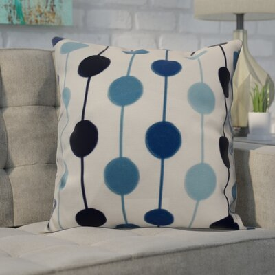 Leal Brady Beads Indoor/Outdoor Throw Pillow Size: 18 H x 18 W, Color: Navy Blue