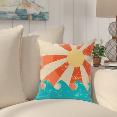 Pembrook Sunbeams Geometric Throw Pillow Size: 18 H x 18 W, Color: Orange