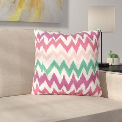 Lucinda Charla Cotton Throw Pillow Color: Pink