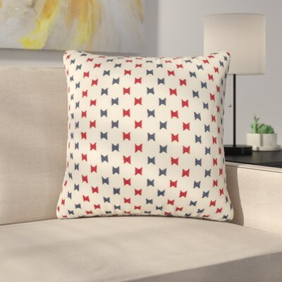 Denna Decorative 100% Cotton Throw Pillow Color: Cream/Blue/Red
