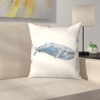 Jetty Printables Whale 01 Throw Pillow Size: 16 x 16