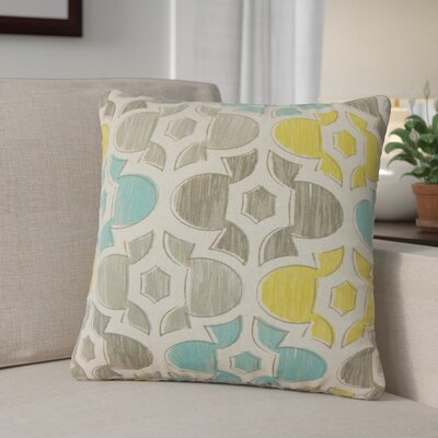 Sevier Geometric Cotton Throw Pillow Color: Yellow