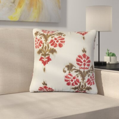 Bedwell Summerfield Ikat Cotton Throw Pillow Color: Red