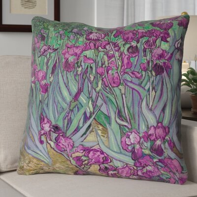 Morley Irises Euro Pillow Color: Pink