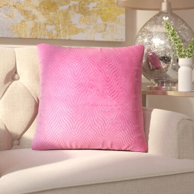 Chesterwood Solid Down Filled Throw Pillow Size: 22 x 22, Color: Azalea