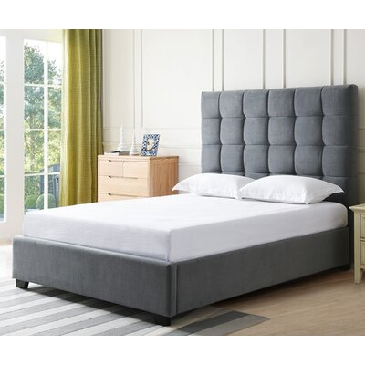 Bedsworth Upholstered Panel Bed Color: Slate, Size: Queen