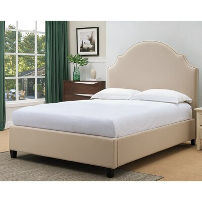 Eldorado Fabric Upholstered Panel Bed Finish: Tan, Size: Queen